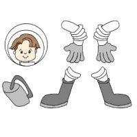 Детали поделки космонавта