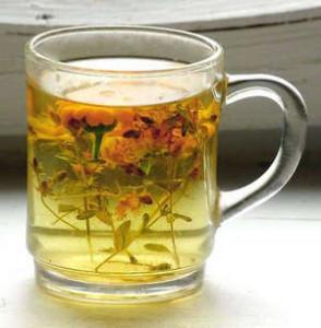 Stir-fried tea