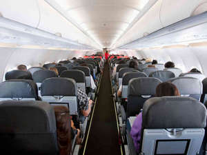 Economy class on the plane