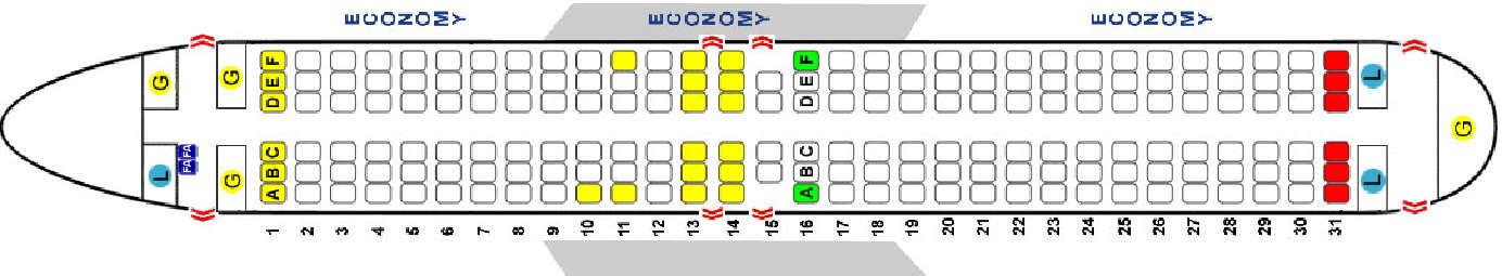Представленная схема самолета