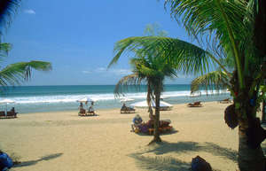 Sandy beach in bali