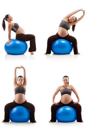 Exercises for pregnant women on fitball