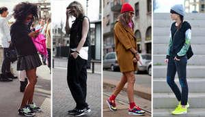 Girls in Air Max sneakers