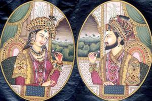 Shah Jahan and his wife Mumtaz Mahal