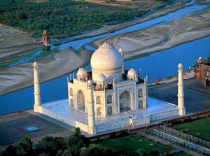 View of the Taj Mahal from above