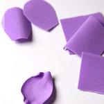 Лепестки из бумаги