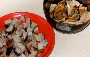 Мелко порезанные грибы