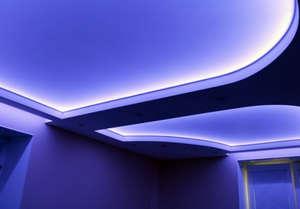 Purple ceiling illumination