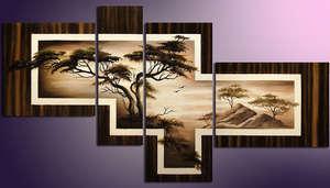 Картина с деревом из модулей
