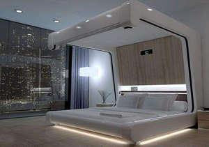 Кровать с декоративной подсветкой