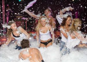 A foam party