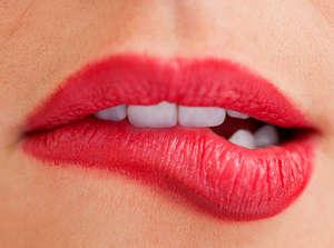Lip biting