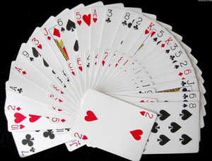 Semicircle of cards