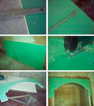 The process of cutting drywall