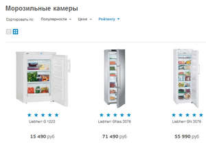 Rating of freezers in Technopark