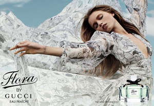 Advertising Flora by Gucci