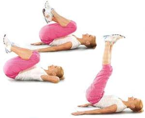 Упражнения с поднятием ног