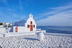 Church on the island of Santorini