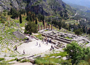 The historic ruins of Greece