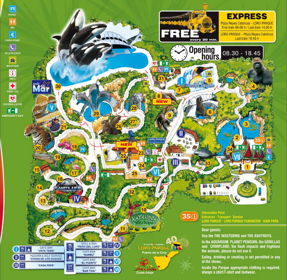Map of Loro Park