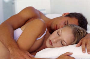 Husband and wife are sleeping
