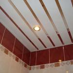 Учимся делать пластиковый подвесной потолок в ванной комнате