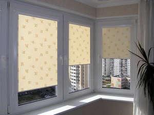 Roller blinds on the loggias