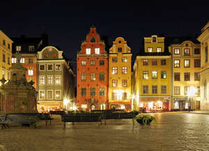 Central district of Gamla Stan