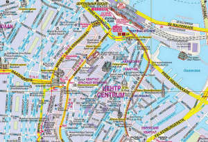 Map of the city in Russian