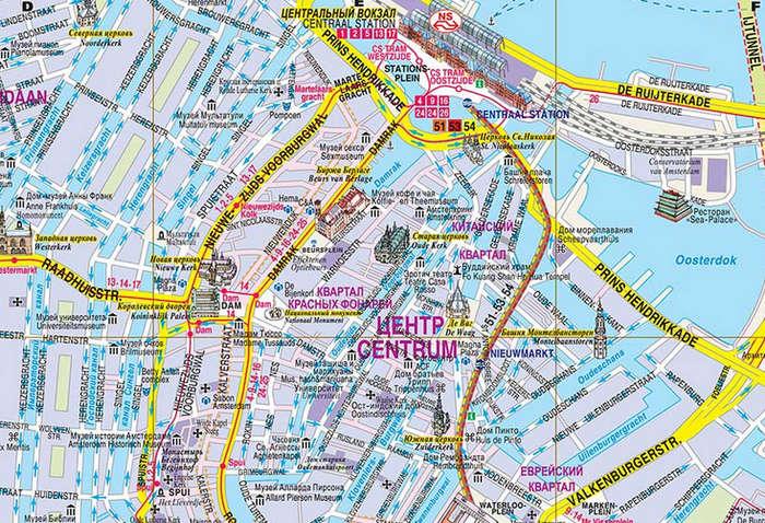 Карта города на русском языке