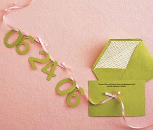 Пригласительное с датой свадьбы