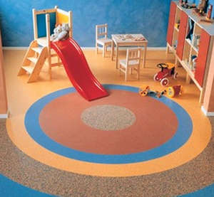 Color flooring in the nursery
