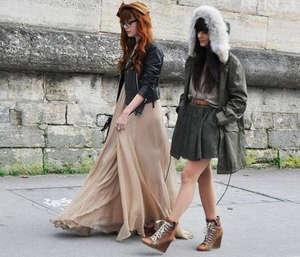 Girls are walking