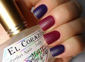 Purple and red nail color