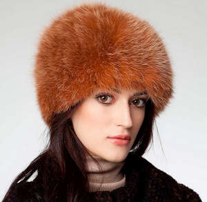 Headdress with long fur