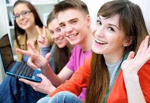 Company of teenagers