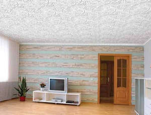 Multilayer wallpaper on the ceiling