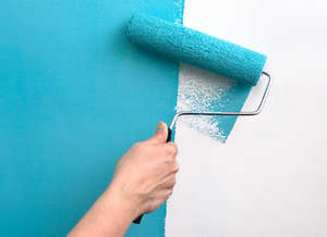 Coloring the walls in blue