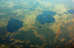 Lakes of Ukraine from a height