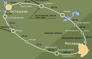 Driving directions from Moscow