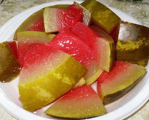 Соленые арбузы на тарелки