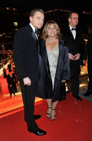 DiCaprio with mom