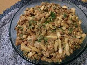 Салат с шимпиньонами
