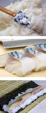 Этапы приготовления суши с рыбой