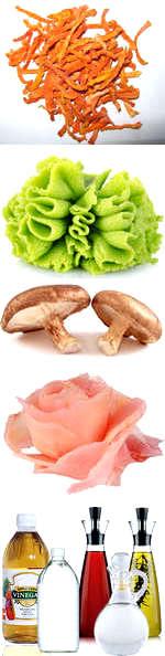 Ингридиенты для приготовления суши
