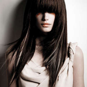 Long hair cascade