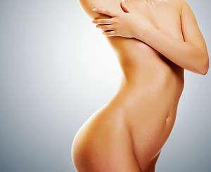Beautiful body after sugar epilation