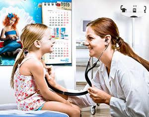 Pediatrician reception