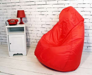 Ottoman with a red top cover