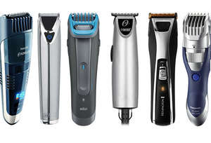 Different models of mustache and beard clippers